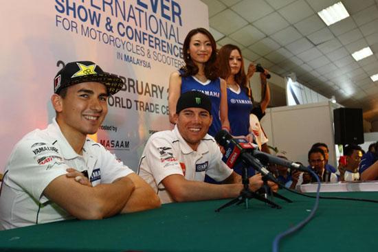 Jorge Lorenzo dan Ben Spies di MotoXpo Kuala Lumpur