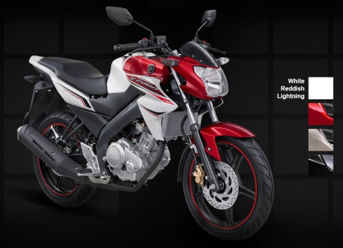 Yamaha New Vixion - White Reddish Lightning
