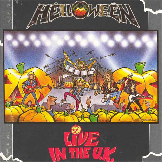 Helloween Live in the UK album cover