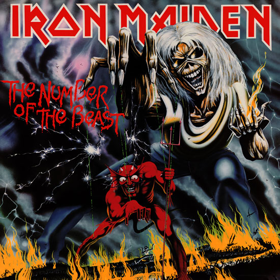 Iron Maiden The Number of the beast album cover
