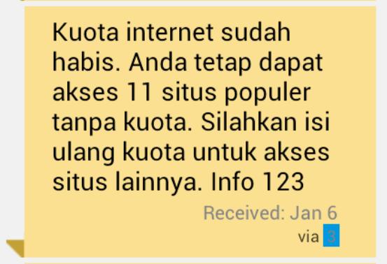 kuota internet habis