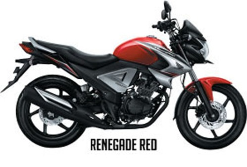 Honda New Megapro FI - Warna Renegade Red