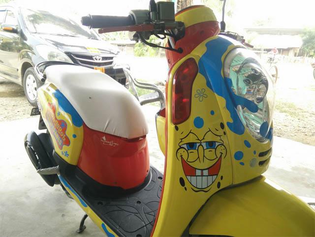 Honda Scoopy Spongebob