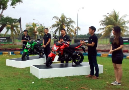launching kawasaki z125