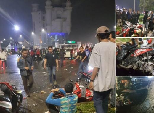 kecelakaan di lamer Mall AEON BSD