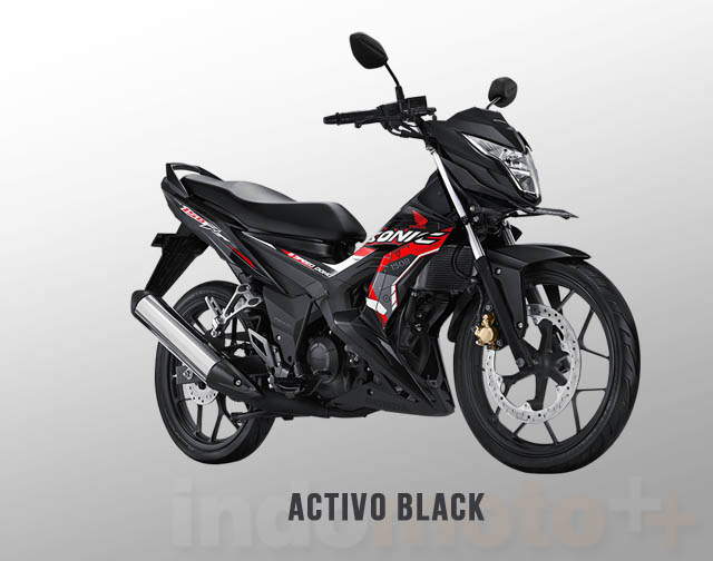 Honda Sonic 150R Warna Activo Black