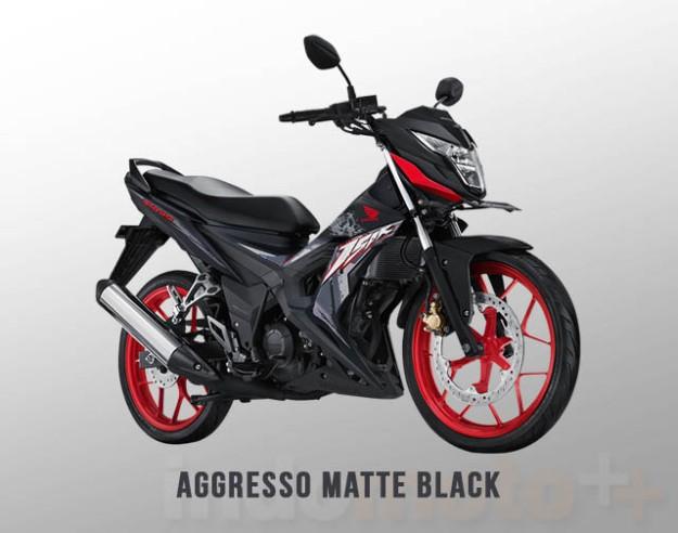 Honda Sonic 150R Warna Aggresso Matte Black