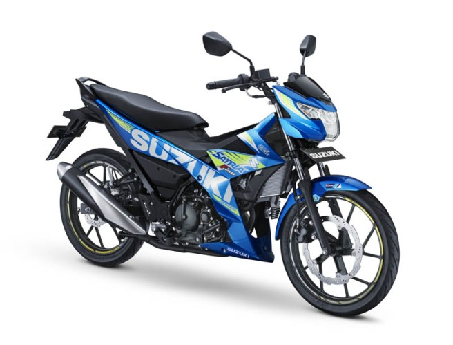 Suzuki Satria F150 Warna Metallic Triton Blue (MotoGP)