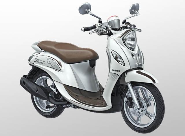 Yamaha Fino 125 Premium Warna White Latte