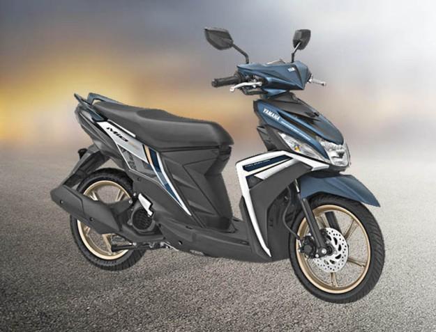 Yamaha Mio warna putih biru