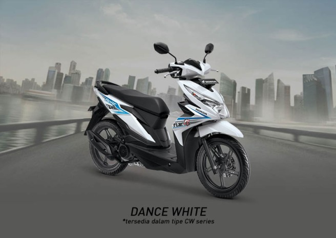 Honda Beat Warna Dance White