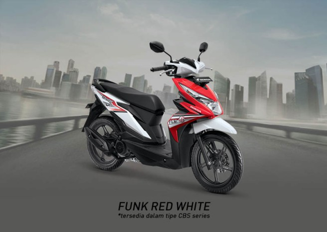 Honda Beat Warna Funk Red White