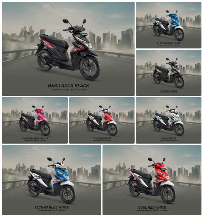 Pilihan Warna Honda Beat 2018