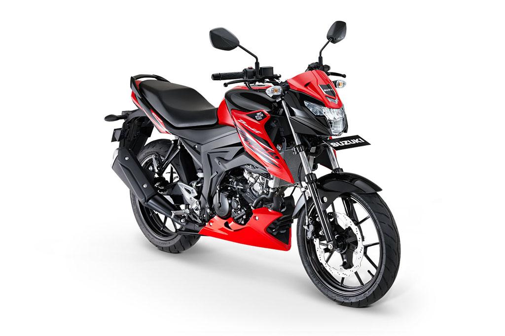 Suzuki GSX150 Bandit Warna Stronger Red Titanium Black